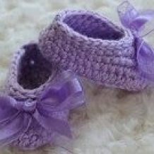 Lavender booties SOLD