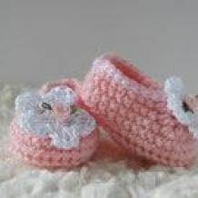 Pink booties SOLD