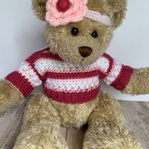 Build-a-bear striped sweater