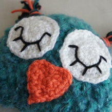 Fuzzy owl hat SOLD