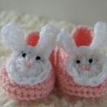 Bunny booties SOLD