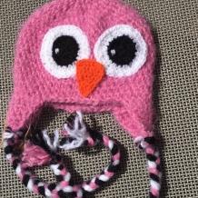 Fuzzy bird hat SOLD