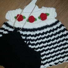 Black and white top and bloomers SOLD