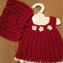 Christmas sparkle dress and bloomers